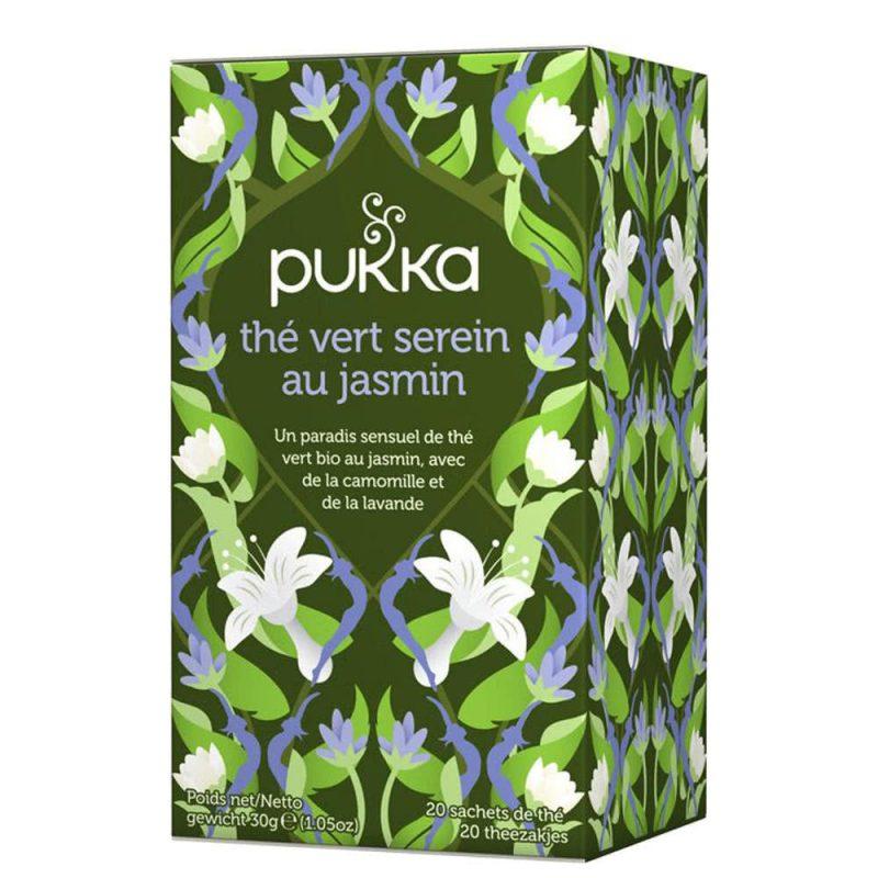 "Thé vert vegan & bio ""Serein au Jasmin"" - Pukka"
