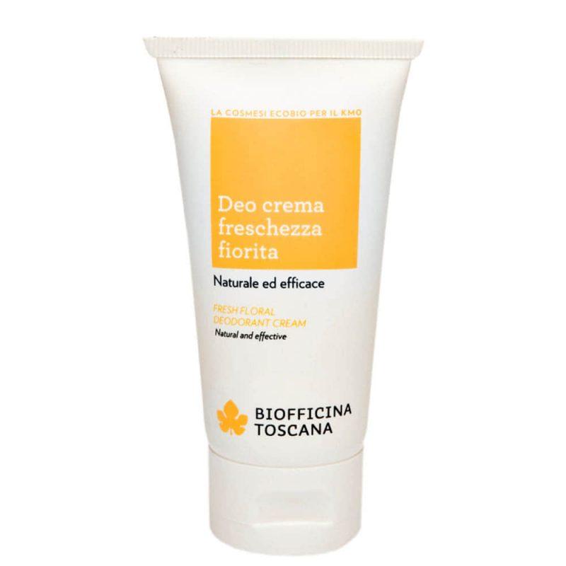 Déodorant crème vegan & bio senteur Fraîcheur florale - Biofficina Toscana