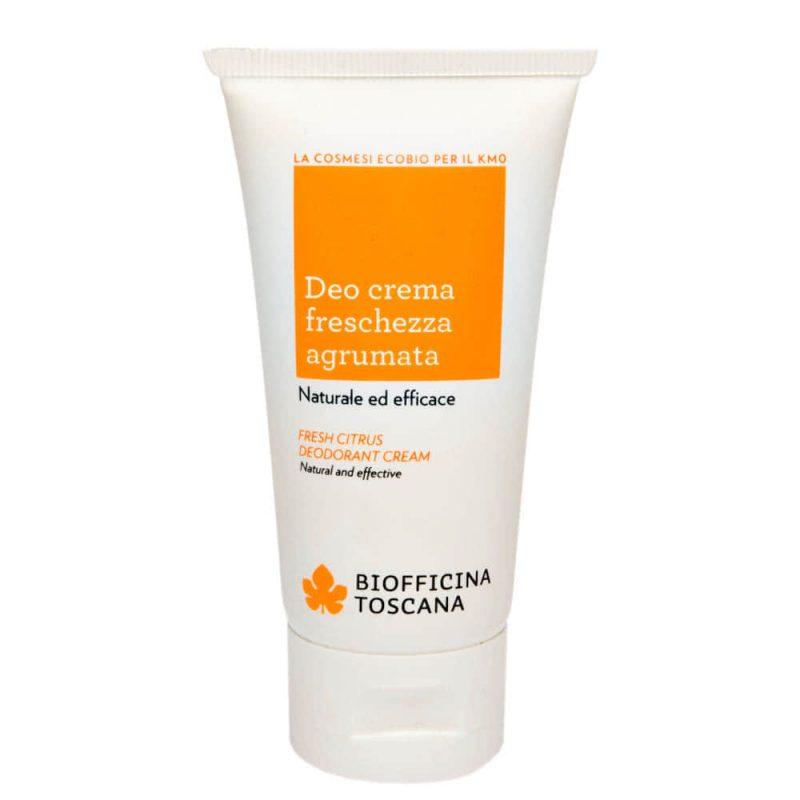 Déodorant crème vegan & bio senteur Fraîcheur d'agrumes - Biofficina Toscana