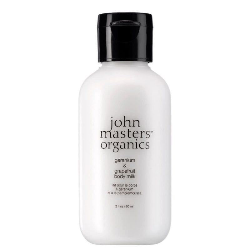 Lait corps vegan & bio Géranium Pamplemousse 60ml - John Masters Organics
