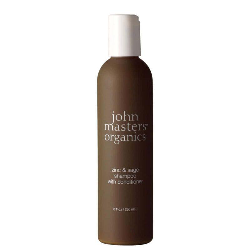 Shampoing 2en1 vegan & bio Zinc et Sauge - John Masters Organics