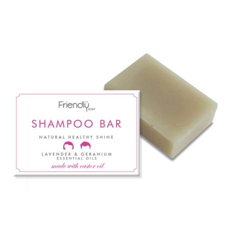 """Shampoing solide vegan """"Lavande & Géranium"""" - Friendly Soap"""