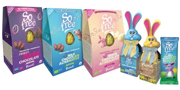 Oeufs de Pâques vegan de la marque Plamil