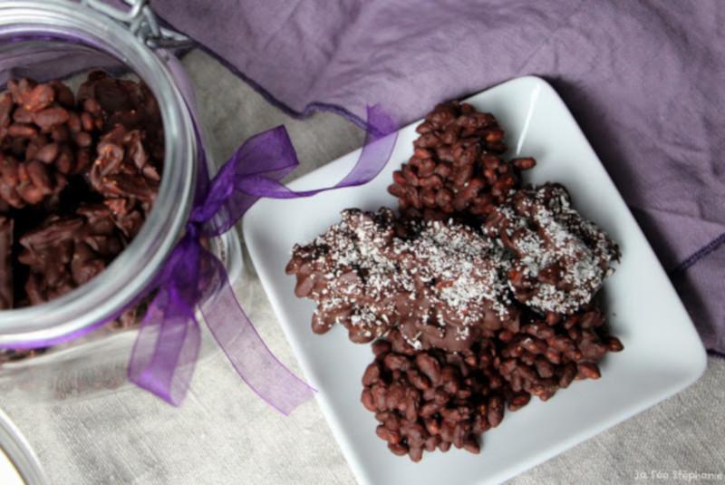 Rochers vegan au chocolat de La fée Stéphanie