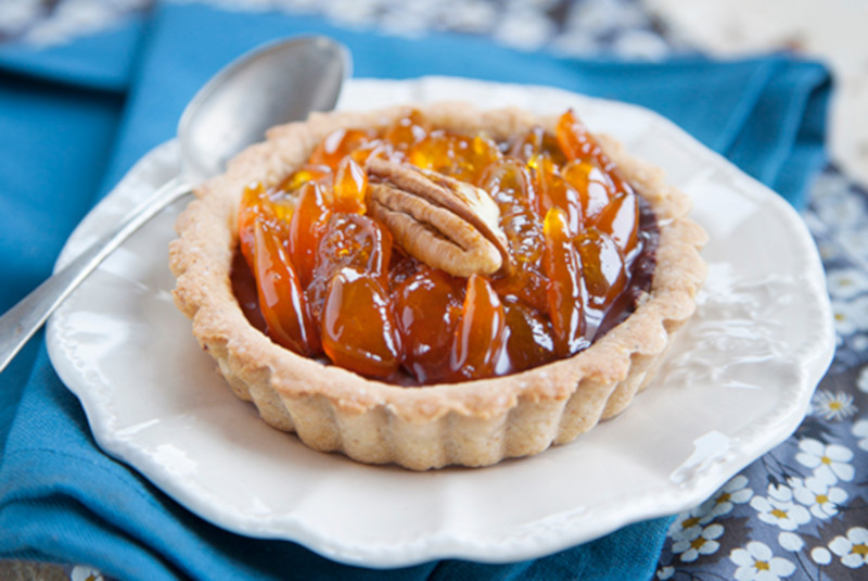 Tartelettes vegan kumquats-pécan-choco de Marie Laforêt